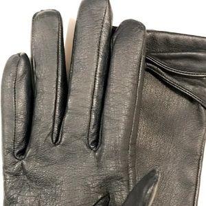 VINTAGE: Navy Leather Women's gloves